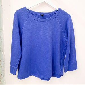 J. CREW Medium Blue LoomKnit Sweatshirt